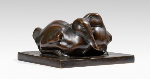 HEBERT COEFFIN Josette (1906-1973), Couple of ducks -