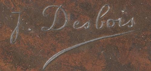"Sculpture  - DESBOIS Jules (1851-1935) -  ""Leda and the swan"""