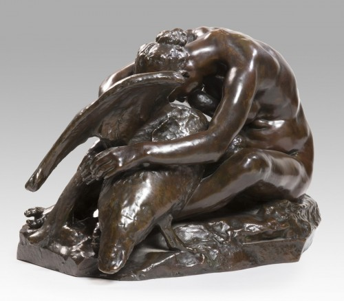"DESBOIS Jules (1851-1935) -  ""Leda and the swan"" -"