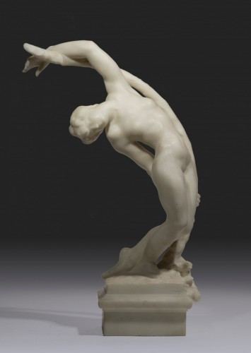 DESBOIS Jules (1851-1935) - The bow or willow's dryad	 - Sculpture Style Art nouveau