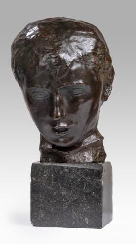 Sculpture  - BERNARD Joseph (1866-1931) - Young girl's head