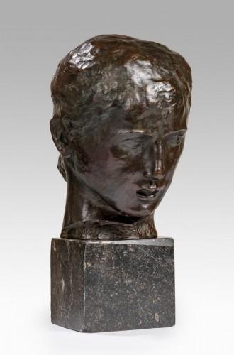 BERNARD Joseph (1866-1931) - Young girl's head -