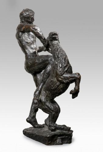 BOURDELLE Emile-Antoine (1861-1929,) -Herakles at the doe  - Sculpture Style Art nouveau