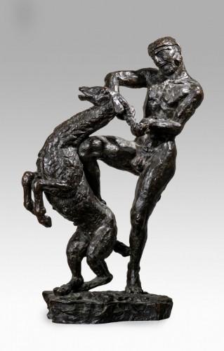 20th century - BOURDELLE Emile-Antoine (1861-1929,) -Herakles at the doe