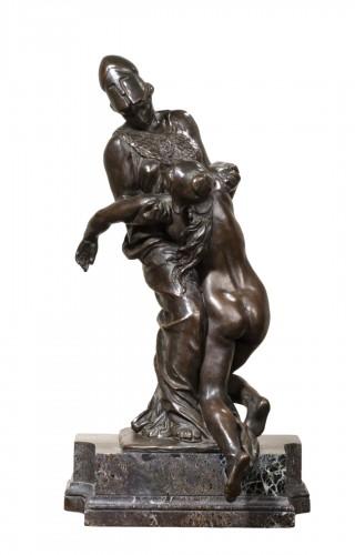 DALOU Aimé-Jules (1838-1902) - Wisdom holding the Liberty
