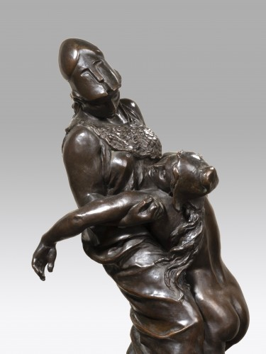 Sculpture  - DALOU Aimé-Jules (1838-1902) - Wisdom holding the Liberty