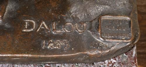 DALOU Aimé-Jules (1838-1902) - Wisdom holding the Liberty -
