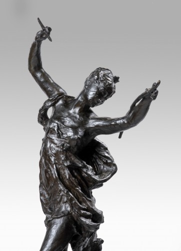 CARPEAUX Jean Baptiste (1827-1875), The disarmed Love (draft) - Sculpture Style