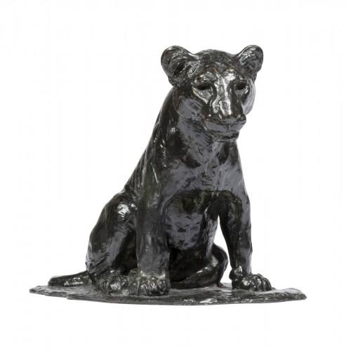 GODCHAUX Roger (1878-1958), Sitting lion cub
