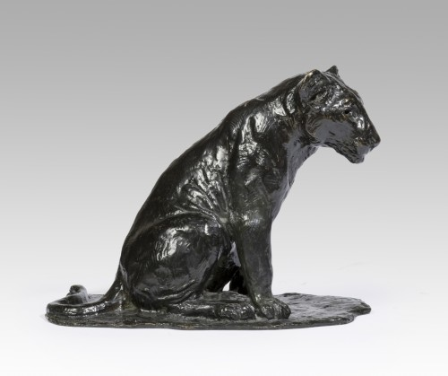 Sculpture  - GODCHAUX Roger (1878-1958), Sitting lion cub