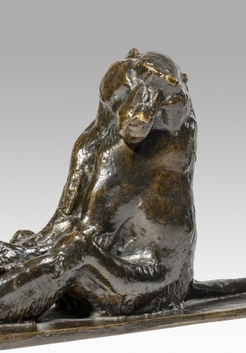 Sculpture  - GUYOT Georges-Lucien (1885-1973), Sitting baboon