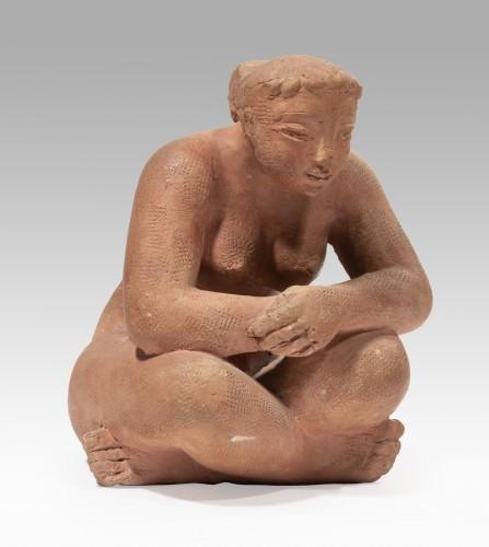 Sculpture  - VOLTI Antoniucci (1915-1989) - Pensive woman