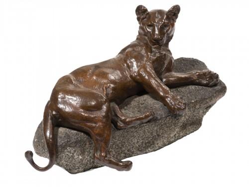 VALTON Charles (1851-1918), Lying lionness