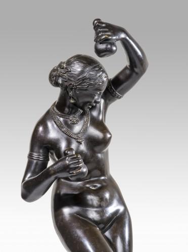 19th century -  PRADIER James (1790-1852) - Naked dancer with calabashs