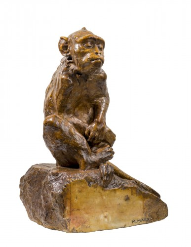 MARX Maurice-Roger (1872-1956) - Thinking monkey
