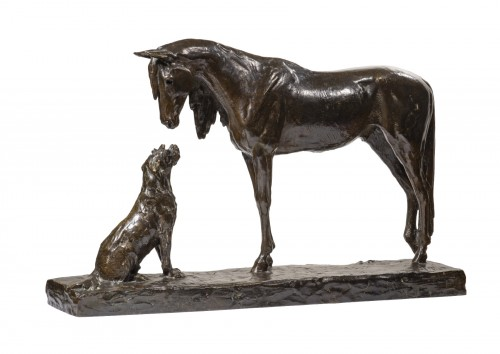 FIOT Maximilien (1886-1953) - The horse and the dog