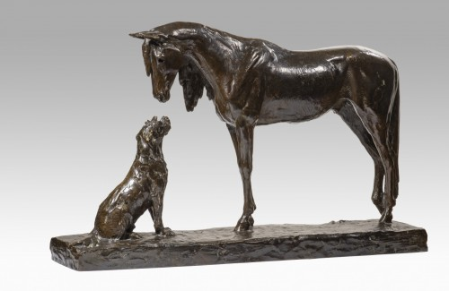 20th century - FIOT Maximilien (1886-1953) - The horse and the dog