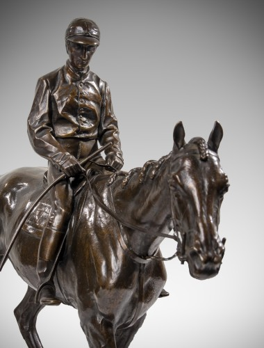 BONHEUR Isidore (1827-1901) - Jockey à cheval - Sculpture Style
