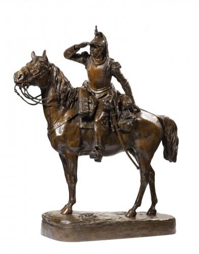 THOMAS SOYER Mathilde (1860-1940) - The spotter (cuirassier on horseback)