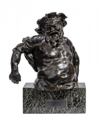 DALOU Aimé-Jules (1838-1902), Torso of Silène