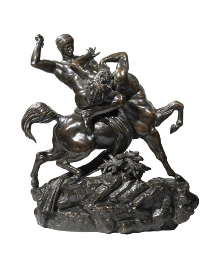 BARYE Antoine-Louis (1795-1875), Theseus and the Centaur Bienor