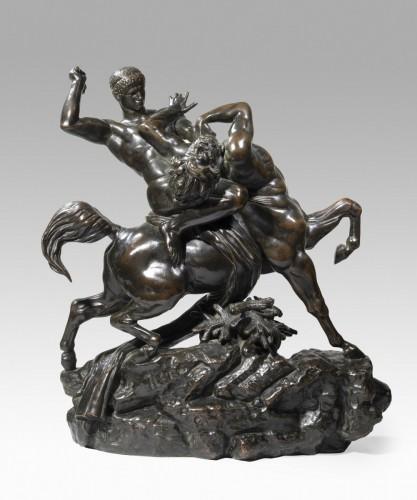 BARYE Antoine-Louis (1795-1875), Theseus and the Centaur Bienor -