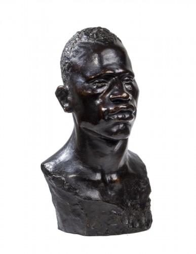 Edith-Aimée VIEIL-NOË (1872 - 1937) - Bust of African