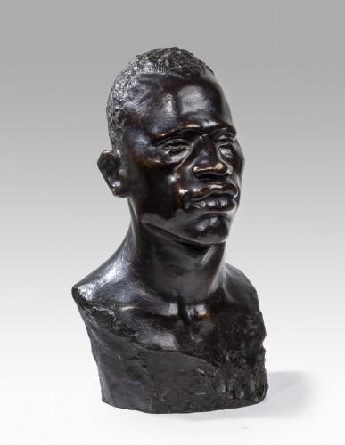 - Edith-Aimée VIEIL-NOË (1872 - 1937) - Bust of African