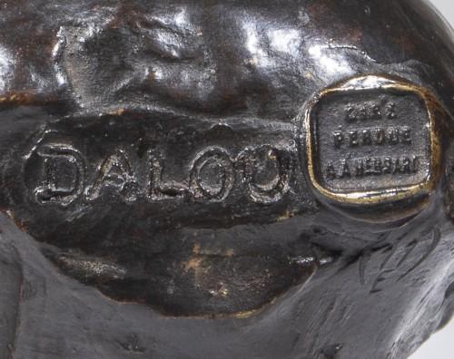 Aimé-jules Dalou (1838 - 1902)  - Bust Of Sleeping Baby - Sculpture Style