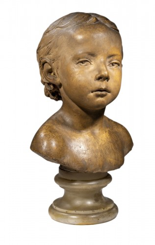 DUBOIS Paul (1829-1905) - Bust of child