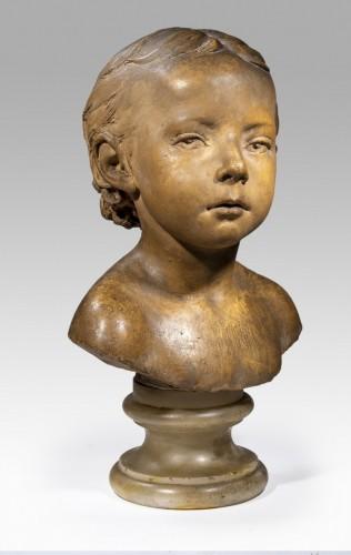 DUBOIS Paul (1829-1905) - Bust of child - Sculpture Style