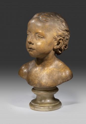 DUBOIS Paul (1829-1905) - Bust of child -