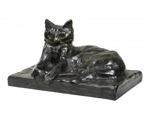 Steinlen Théophile-Alexandre (1859-1923 -) Lying Cat