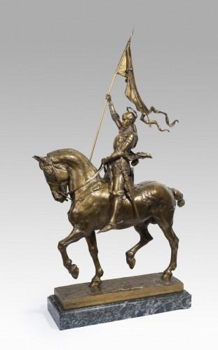 Jeanne d'Arc - Emmanuel FREMIET (1824-1910) - Sculpture Style Napoléon III