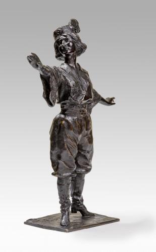 FRÖDMAN-CLUZEL Boris (1878-1959), The singer - Sculpture Style