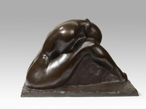 WRAMPE Fritz (1893-1934) - Curled up woman - Sculpture Style Art nouveau