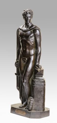 ROBERT Michel dit aussi MESLY David ou SERVIN Vital (1918-2004), Man - Sculpture Style 50