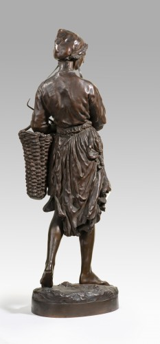 CARPEAUX Jean Baptiste (1827-1875) - Winkles' fisherwoman - Sculpture Style Napoléon III