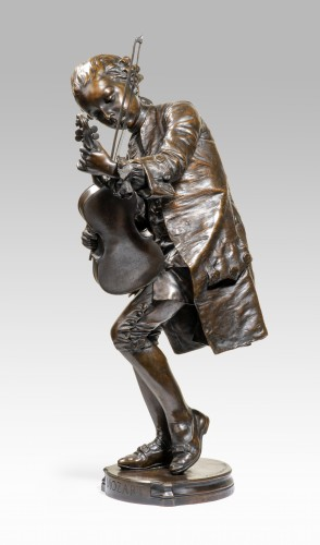 Louis-Ernest Barrias (1841-1905) - Mozart   - Sculpture Style Napoléon III