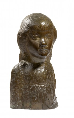 CARTON Jean Maurice (1912-1988), Bust of a young girl