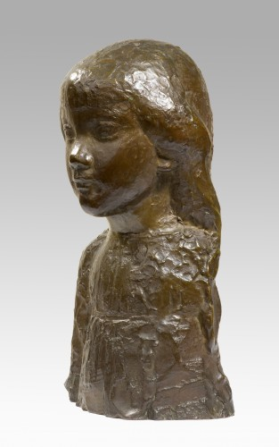 CARTON Jean Maurice (1912-1988), Bust of a young girl    - Sculpture Style 50