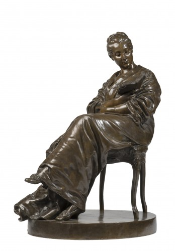 DALOU Jules (1838-1902) The reading lady (1877-1881)    - Sculpture Style Napoléon III