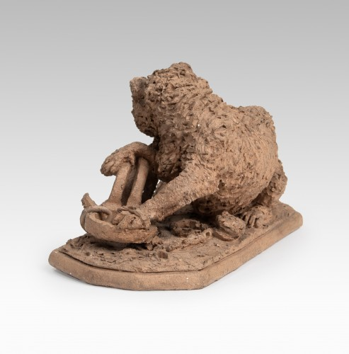 FRATIN Christophe (1801-1864) - Wolf trappes  - Sculpture Style Louis-Philippe