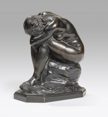 DALOU Aimé-Jules (1838-1902), The unknown truth or broken mirror  - Sculpture Style Art nouveau