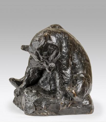 Georges-Lucien GUYOT (1885-1973) sitting bear - Sculpture Style Art nouveau