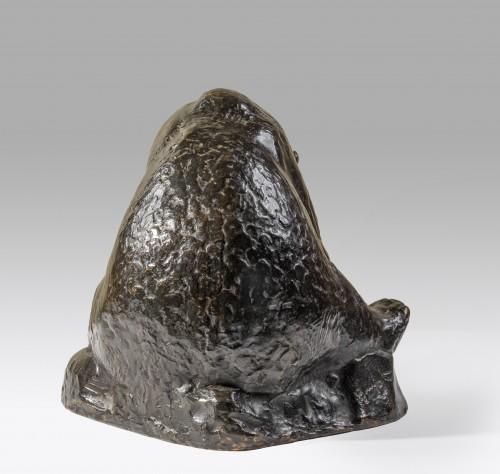 Sculpture  - Georges-Lucien GUYOT (1885-1973) sitting bear