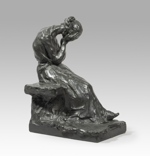 PINA Alfredo (1883-1966 Italian), The pain    - Sculpture Style Art nouveau