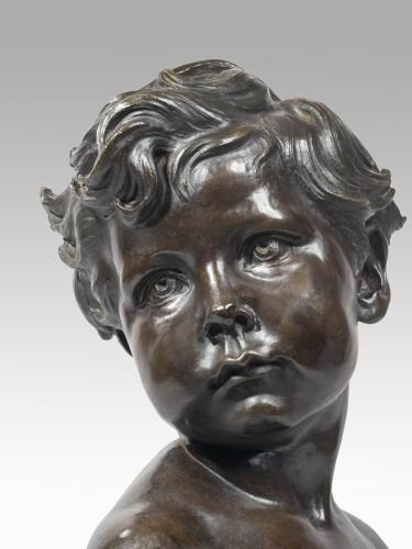 DALOU Aimé-Jules (1838-1902 French), Child bust - Sculpture Style Napoléon III