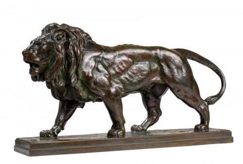 BARYE Antoine-Louis (1795-1875) - Walking lion
