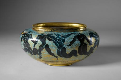 Jean Mayodon (1893-1967) -  Ovoid cup on heel - Porcelain & Faience Style Art Déco